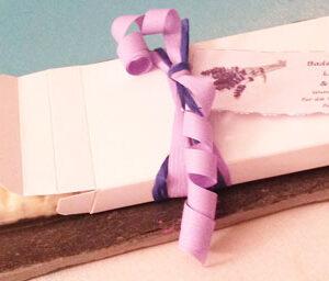 Badeschokolade Lavendel Verbena verpackt